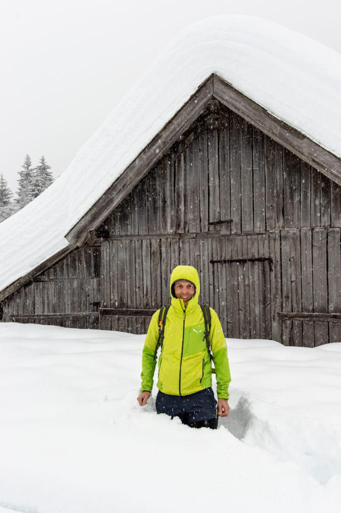 Das bin ich - Der Reiseblogger auf der Schneewanderung, Foto: Johannes Geyer