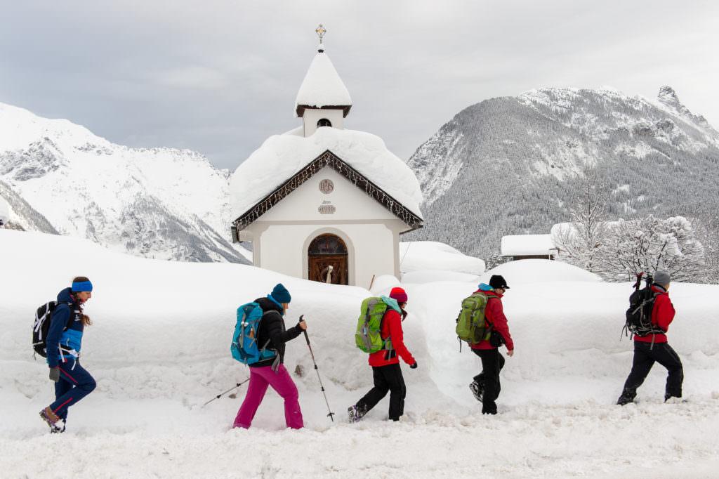 Wir hatten sooo viel auf unserer Schneewanderung in der Leutasch! Foto Johannes Geyer